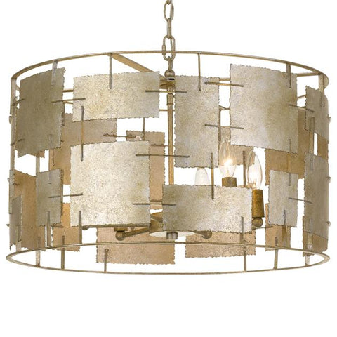 Crystorama Bronson 6 Light Oxidized Silver Chandelier