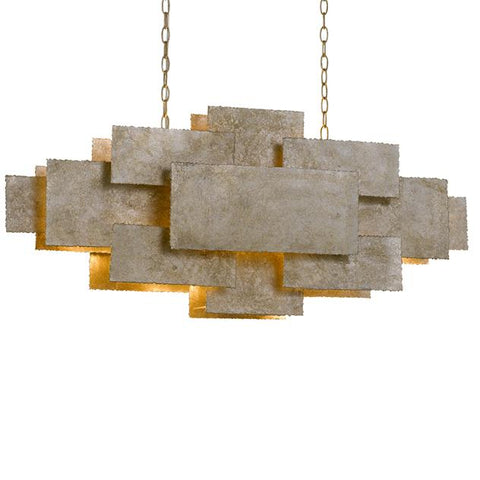 Crystorama Bronson 4 Light Oxidized Silver Linear Chandelier