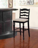 Linon BS003BLK01U Melva Antique Black Bar Stool