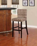 Linon BS012OCO01U Mller Ikat Coconut Bar Stool