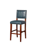 Linon BS021BLU01U Blake Pacific Blue Bar Stool