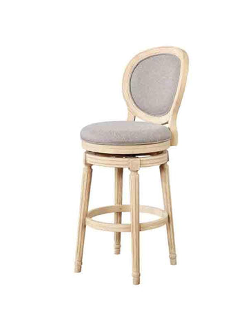 Linon BS024ASH01U Cocoa Wood Swivel Bar Stool