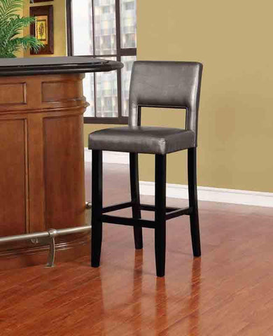 Linon BS037PWTR01U Velma Pewter Bar Stool