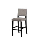 Linon BS042GRY01U Clayton Dark Gray Washed Velvet Bar Stool