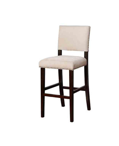 Linon BS043NAT01U Clayton Natural Washed Velvet Counter Stool