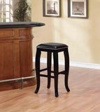 Linon BS045BLK01U Scottish Black Square Top Bar Stool