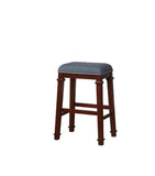 Linon BS095BLU01U Kyley Denim Blue Tweed Backless Bar Stool