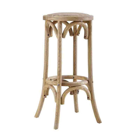Linon BS154RATT01U Rae Rattan Seat Backless Bar Stool