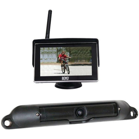 "BOYO Vision VTC424R Wi-Fi High-Resolution Rearview Camera System with 4.3"" LCD Monitor - Peazz.com"