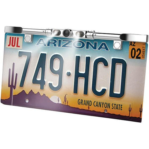 BOYO Vision VTL405HDL Ultraslim License Plate HD Camera with LED Lights (Chrome) - Peazz.com