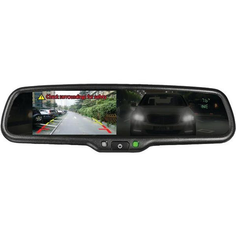 "BOYO Vision VTM43TCA 4.3"" OE-Style Rearview Auto-Dimming Mirror Monitor with Temperature & Compass - Peazz.com"