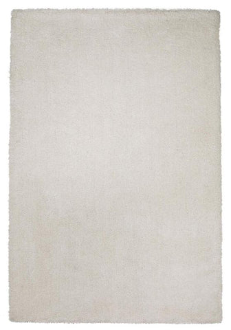 "KAS Rugs Bliss 1550 Ivory Shag Hand-Woven & Other 100% Polyester 2'3"" x 7'6"" Runner"