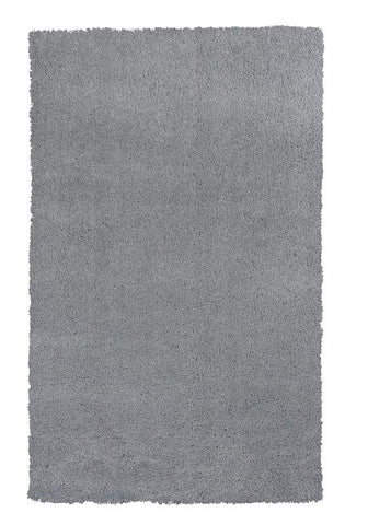 KAS Rugs Bliss 1557 Grey Shag Hand-Woven & Other 100% Polyester 5' x 7'