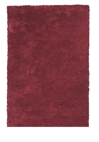 KAS Rugs Bliss 1564 Red Shag Hand-Woven & Other 100% Polyester 8' Round