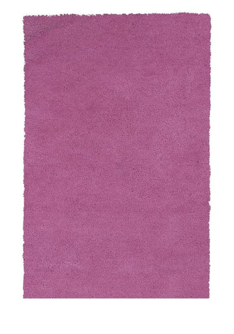 KAS Rugs Bliss 1576 Hot Pink Shag Hand-Woven & Other 100% Polyester 5' x 7'