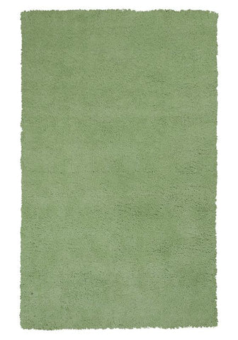 "KAS Rugs Bliss 1578 Spearmint Green Shag Hand-Woven & Other 100% Polyester 27"" X 45"""