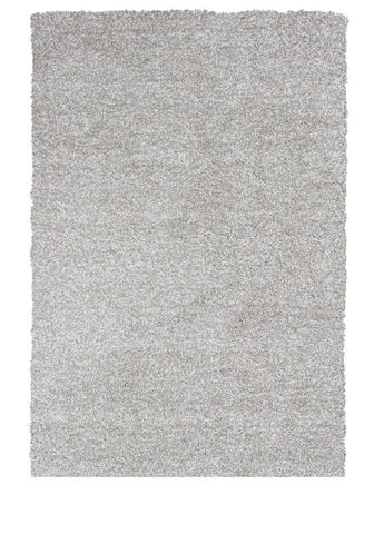 "KAS Rugs Bliss 1580 Ivory Heather Shag Hand-Woven & Other 100% Polyester 7'6"" X 9'6"""