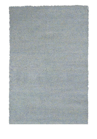 "KAS Rugs Bliss 1582 Blue Heather Shag Hand-Woven & Other 100% Polyester 2'3"" x 7'6"" Runner"