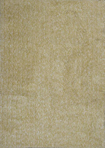 "KAS Rugs Bliss 1586 Yellow Heather Shag Hand-Woven & Other 100% Polyester 2'3"" x 7'6"" Runner"