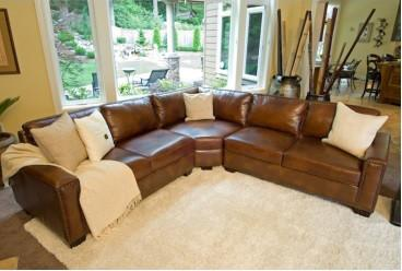Leather Sectional Rustic Carlyle