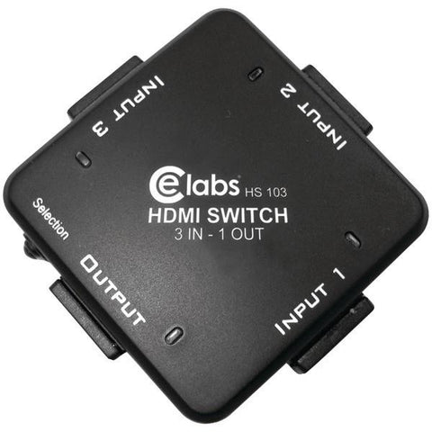 CE Labs HS103 3-In, 1-Out Auto HDMI Switcher - Peazz.com