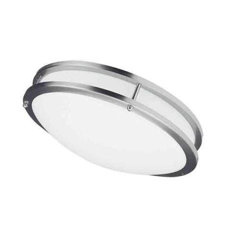 "Dainolite CFLED-C1626-SC LED Ceiling Flush 26W 410mm (16""),Satin Chrome"