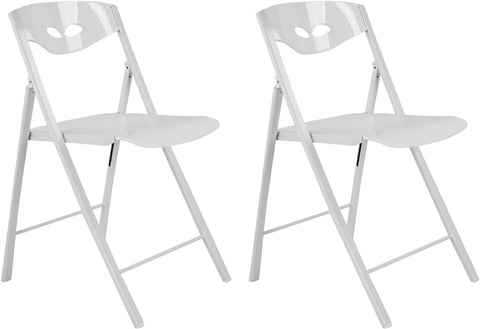 Corner Housewares CH-15P Radiant Space Saving Folding Chair (Set of 2)