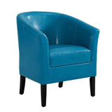 Linon CH057DBLU01U Sadie Dark Blue Club Chair