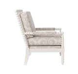 Linon CH070BGE01U Sussex Beige Spindal Wood Frame Chair