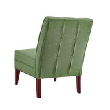 Linon CH082GRN01U Carmen Green Slipper Chair