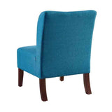 Linon CH085BLU01U Julie Curved Back Blue Slipper Chair