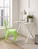 Walker Edison CH33MCGR Metal Café Chair - Spring Green - Peazz.com - 3