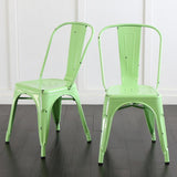 Walker Edison CH33MCGR Metal Café Chair - Spring Green - Peazz.com - 6