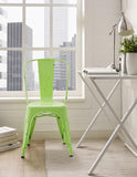 Walker Edison CH33MCGR Metal Café Chair - Spring Green - Peazz.com - 1