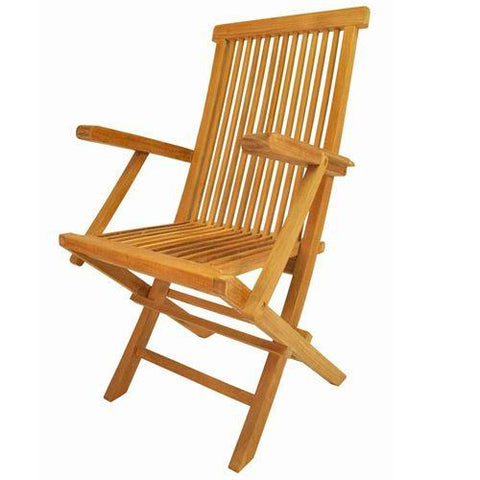 Anderson Teak CHF-102 Classic Folding Armchair - (sell & price per 2 chairs only) - Peazz.com