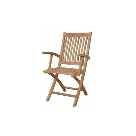 Anderson Teak CHF-105 Tropico Folding Armchair (sell & price per 2 chairs only) - Peazz.com