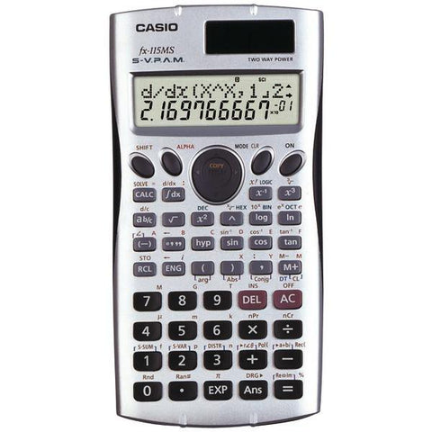 CASIO FX115-MS Scientific Calculator with 300 Built-in Functions - Peazz.com