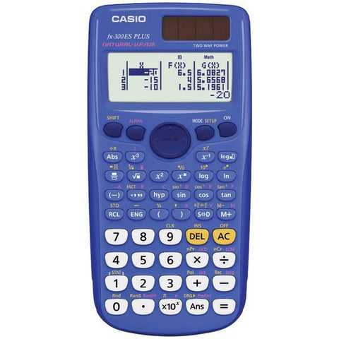 CASIO FX-300ESPLUS-BLU Fraction & Scientific Calculator (Blue) - Peazz.com
