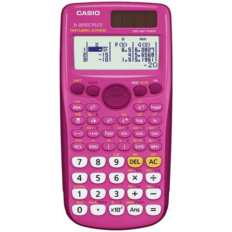 CASIO FX-300ESPLUS-PK Fraction & Scientific Calculator (Pink) - Peazz.com