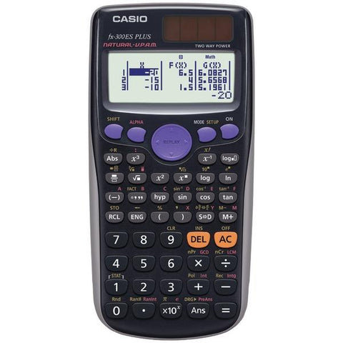 CASIO FX300ES Plus Fraction & Scientific Calculator (Black) - Peazz.com