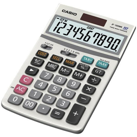 CASIO JF100MSSIH Solar Calculator - Peazz.com
