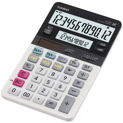 CASIO JV-220 Dual Display Compact Desktop Calculator - Peazz.com
