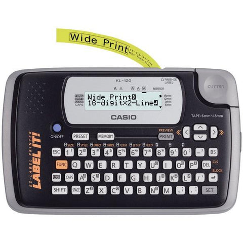 CASIO KL120L 16-Digit, 2-Line Label Printer - Peazz.com