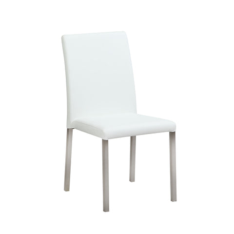 Chintaly CLAUDIA-SC-WHT Straight-Back Side Chair ( Set of 2 )