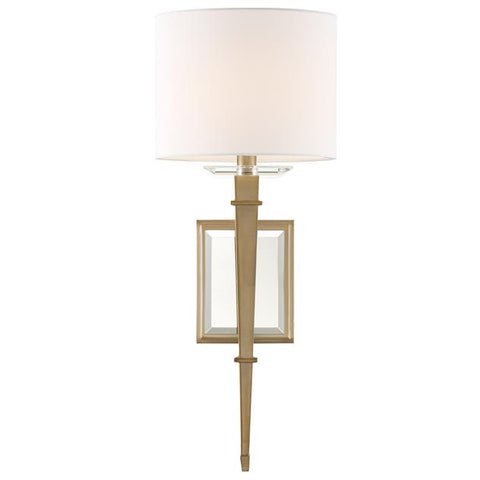 Crystorama Clifton 1 Light Aged Brass Sconce