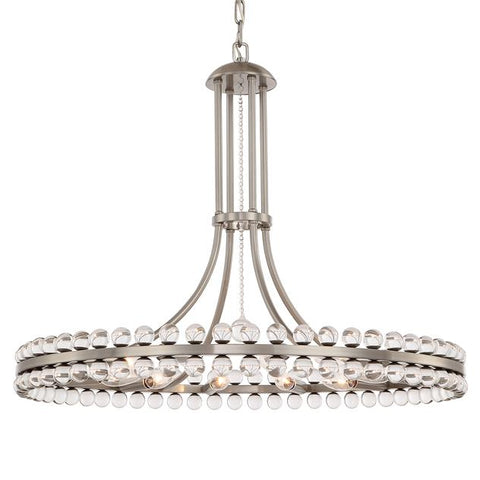 Crystorama Clover 12 Light Brushed Nickel Chandelier