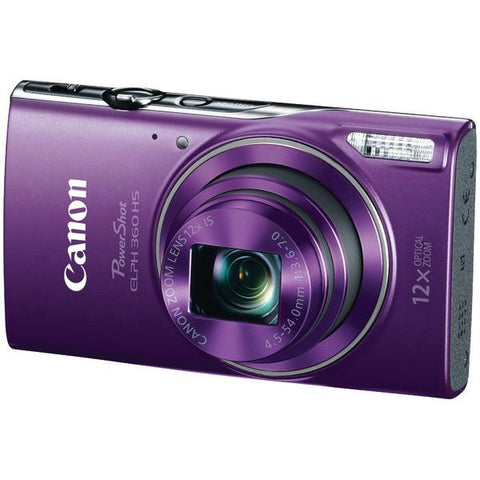 Canon 1081C001 20.2-Megapixel PowerShot ELPH 360 HS Digital Camera (Purple) - Peazz.com