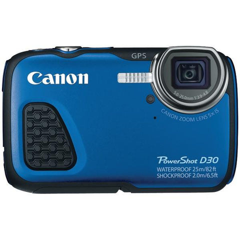 Canon 9337B001 12.1-Megapixel PowerShot D30 Digital Camera - Peazz.com