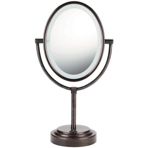 Conair BE47BR Double-Sided Lighted Mirror (Oiled Bronze) - Peazz.com
