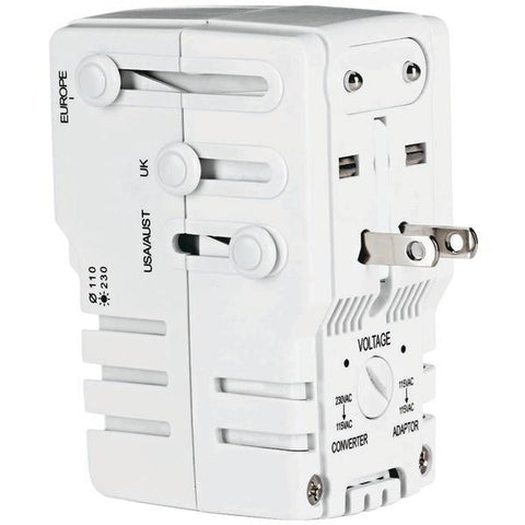 Conair TS253AD Power Adapter/Converter with Surge Protection - Peazz.com